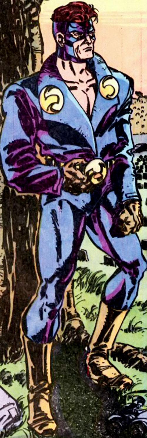 Nomad (Early) (Jack Monroe) (Captain America ally) (Marvel Comics) under a tree