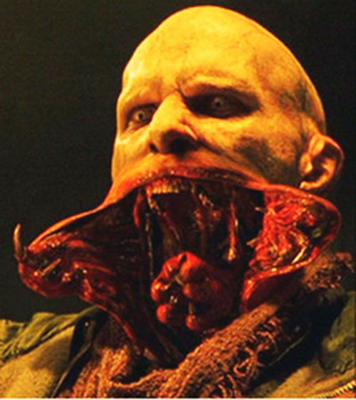 Nomak the Reaper (Luke Goss in Blade) opening his mouth