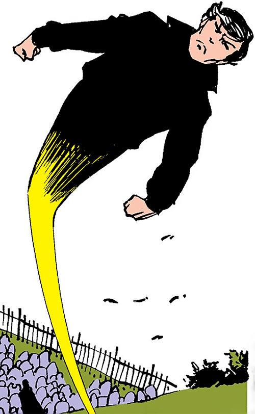 Northstar of Alpha Flight (Marvel Comics) leaves a funeral
