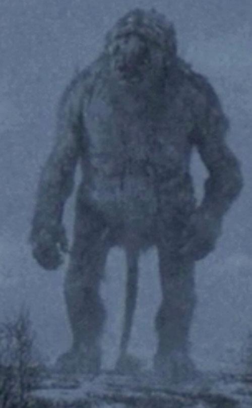 Trollhunter - giant troll in a blizzard