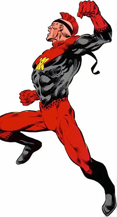 Nuklon of Infinity, Inc. (DC Comics) with his black headband
