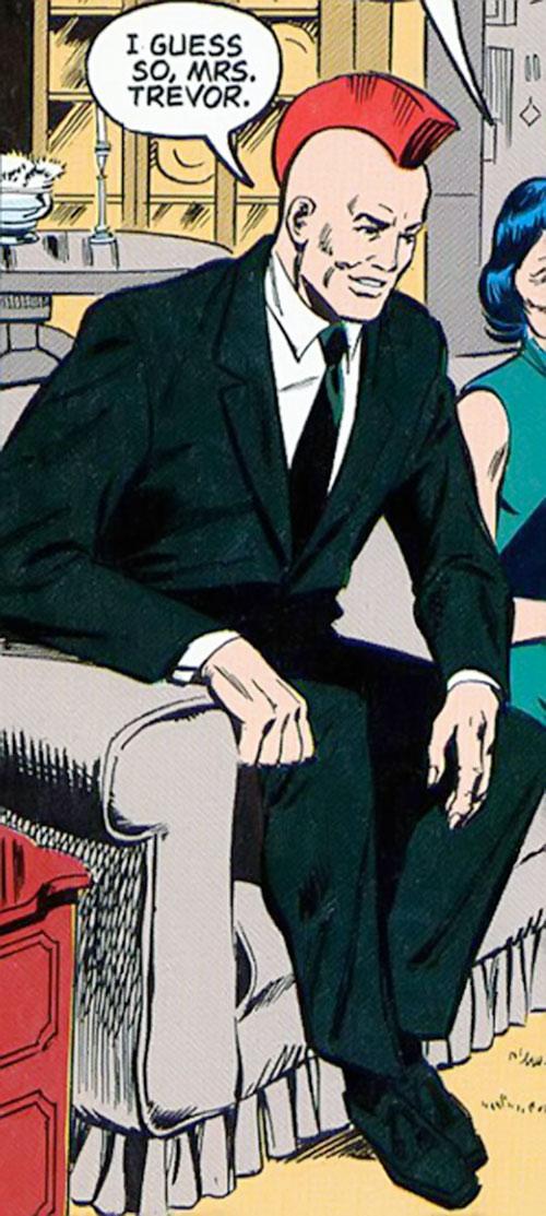 Nuklon of Infinity, Inc. (DC Comics) in a dark green suit