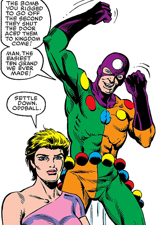 Oddball of the Death-Throws (Hawkeye enemy) (Marvel Comics) and Bombshell
