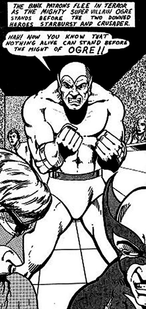 Ogre (Champions RPG) comic book panel