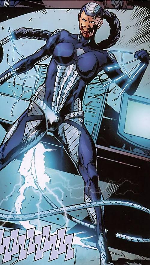 Ohyaku (Black Panther enemy) (Marvel Comics) tearing free from a net
