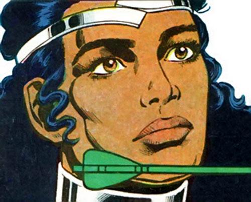 Onyx (Green Arrow ally) (DC Comics) face closeup