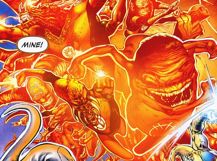 Orange Lantern energy creatures