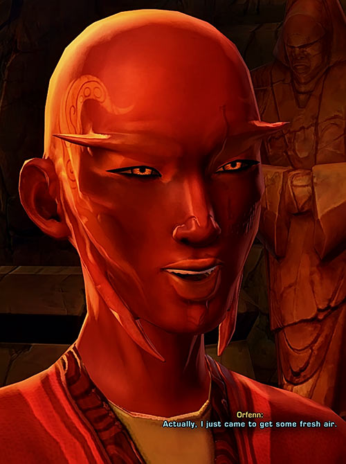 Star Wars the Old Republic - SWTOR - Sith Inquisitor - Orfenn - Snarky look