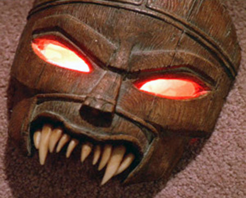 Ovu Mobani (Buffy the Vampire Slayer enemy) mask with eyes glowing