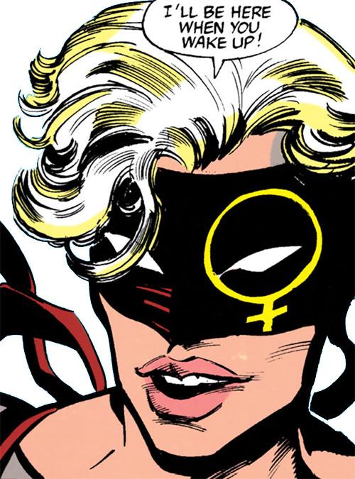 Pagan (Marian Mercer) (Batman character) (DC Comics) face closeup