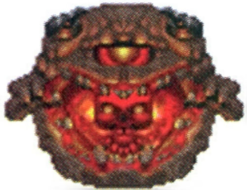 Pain Elemental from the Doom video game, disgorging a Lost Soul