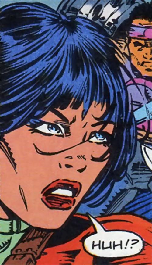Panther of the Gene Dogs (Marvel Comics UK) face closeup