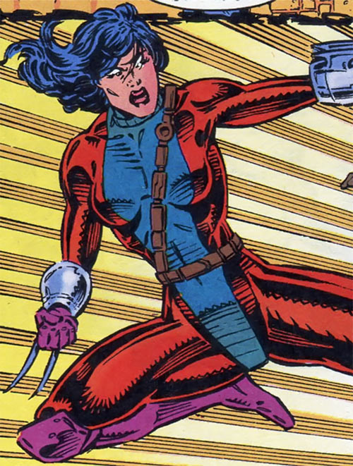 Panther of the Gene Dogs (Marvel Comics UK) doing a jump kick