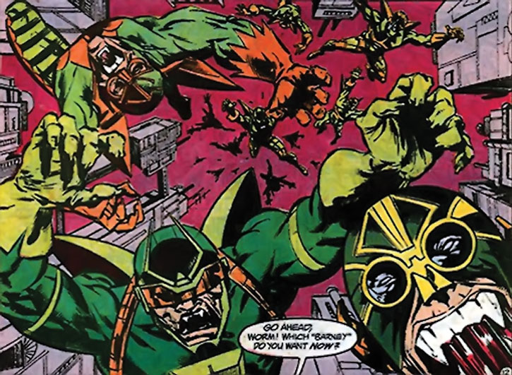 Parademons dropping in on Apokolips