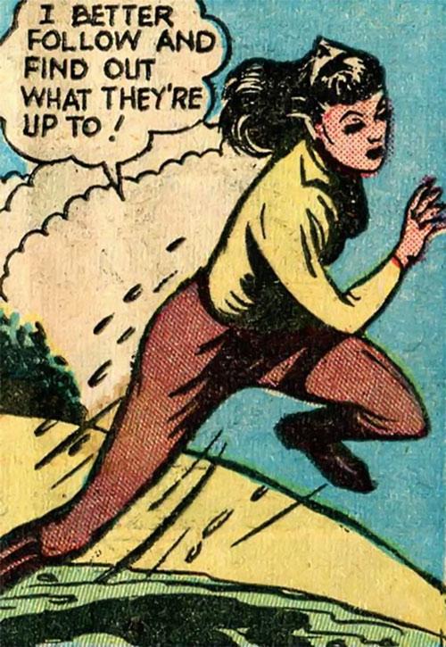 Pat Parker War Nurse (Harvey Comics) brown jodhpurs yellow blouse