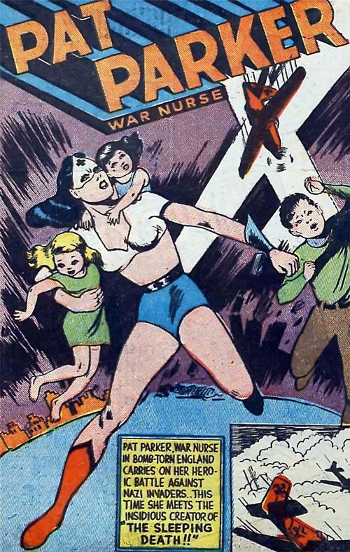 Pat Parker War Nurse (Harvey Comics) evacuating children