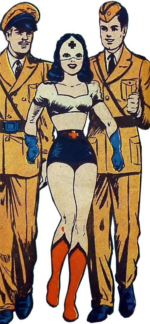Pat Parker War Nurse (Harvey Comics) and 2 officers