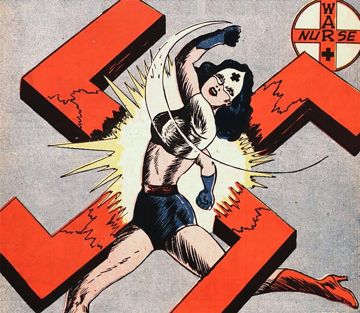 Pat Parker War Nurse smashes a swastika