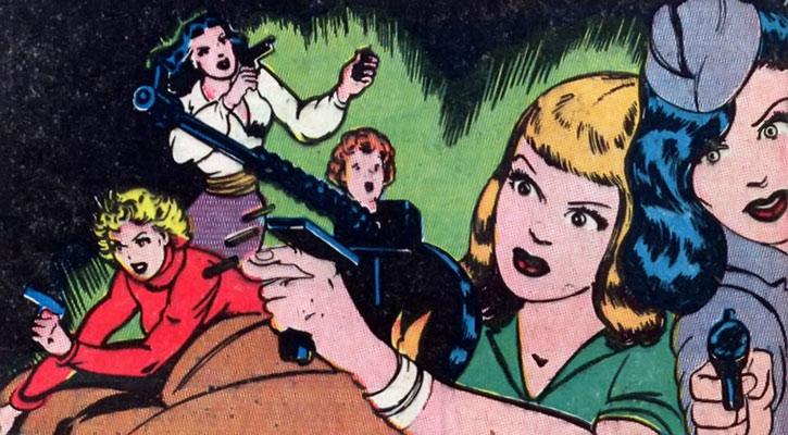Par Parker War Nurse and her Girl Commandos with guns