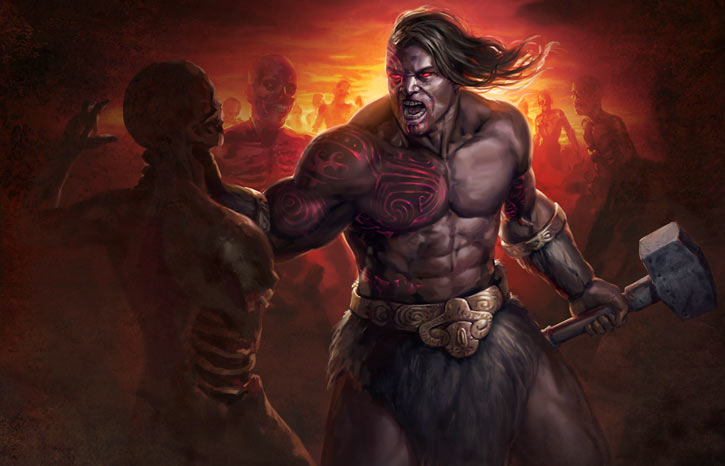Path of Exile - Artwork - Karui marauder and zombies