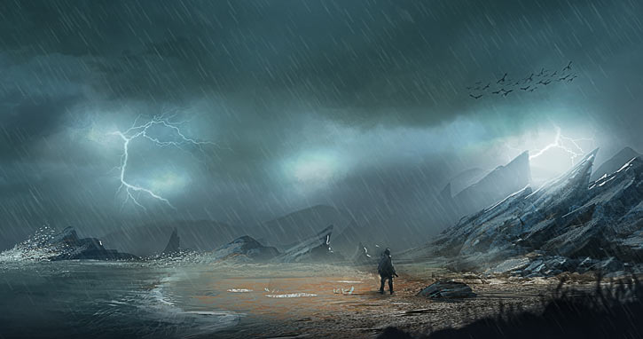 Path of Exile - Artwork - Rain beaten beach