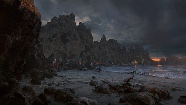 Path of Exile - Artwork - Beginning beach strand