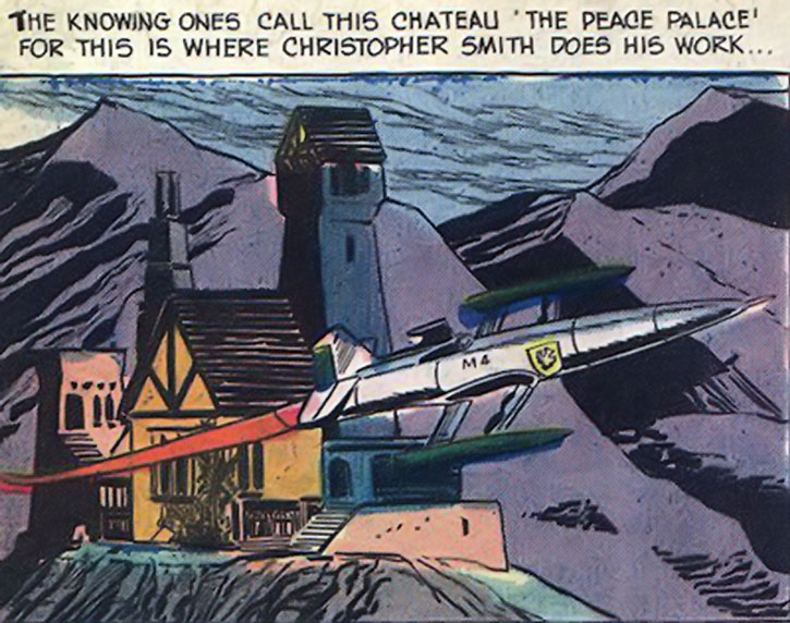 The Peacemaker's chateau and super-plane