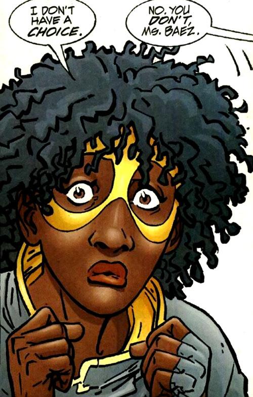 Peek-a-Boo (Flash character) (DC Comics) face closeup