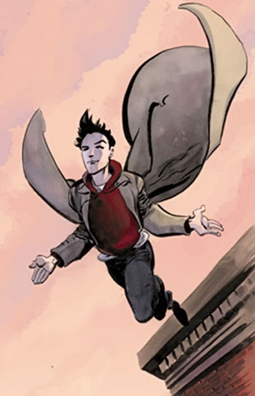 Peter Petrelli (Milo Ventimiglia in Heroes) art, flying from a bridge