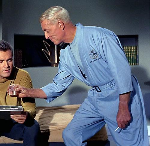 Philip Boyce (John Hoyt in Star Trek) with Captain Pike