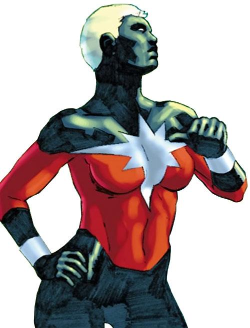 Captain Marvel (Phyla-Vell) (Marvel Comics) with jet black face