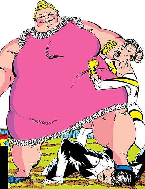 Pink Pearl (Alpha Flight enemy) (Marvel Comics) vs. Aurora and Northstar
