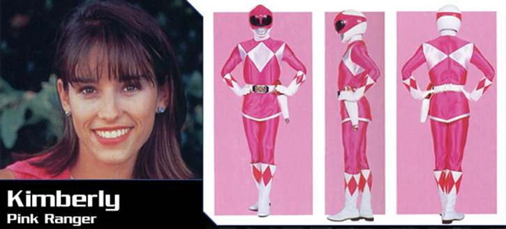 Pink Ranger (Kimberly) of the Mighty Morphin' Power Rangers banner