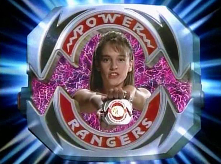 Pink Ranger (Kimberly) of the Mighty Morphin' Power Rangers power morpher