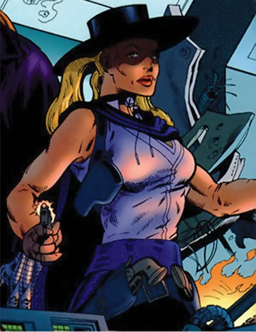 Pistolera of the Ravens (Birds of Prey enemy) (DC Comics) in her mariachi outfit