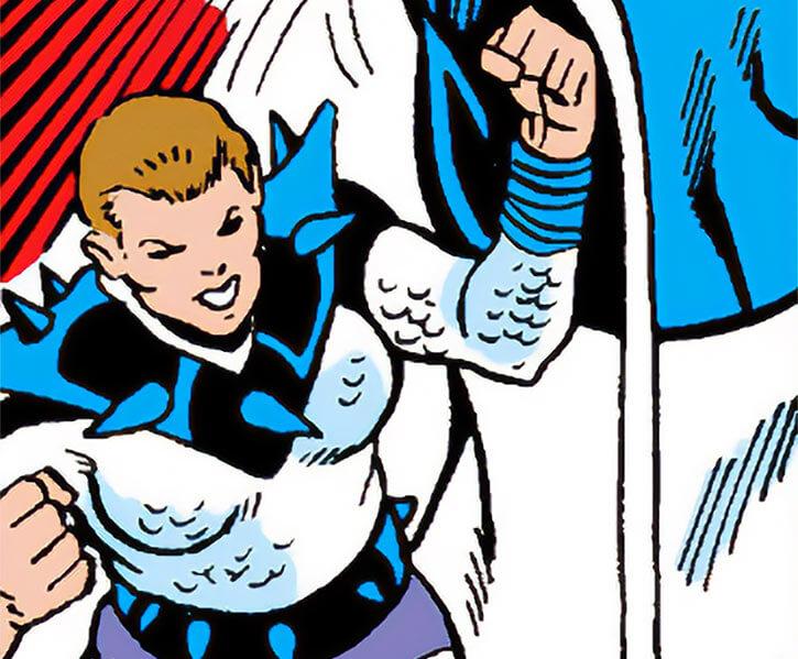 Poundcake (Marvel Comics) stomps on Goliath's foot