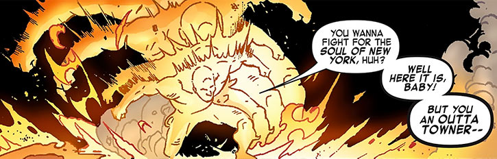 Power Man (Victor Alvarez) seething with energy