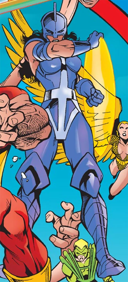 Power Princess of the Squadron Supreme (Marvel Comics) in her purple costume