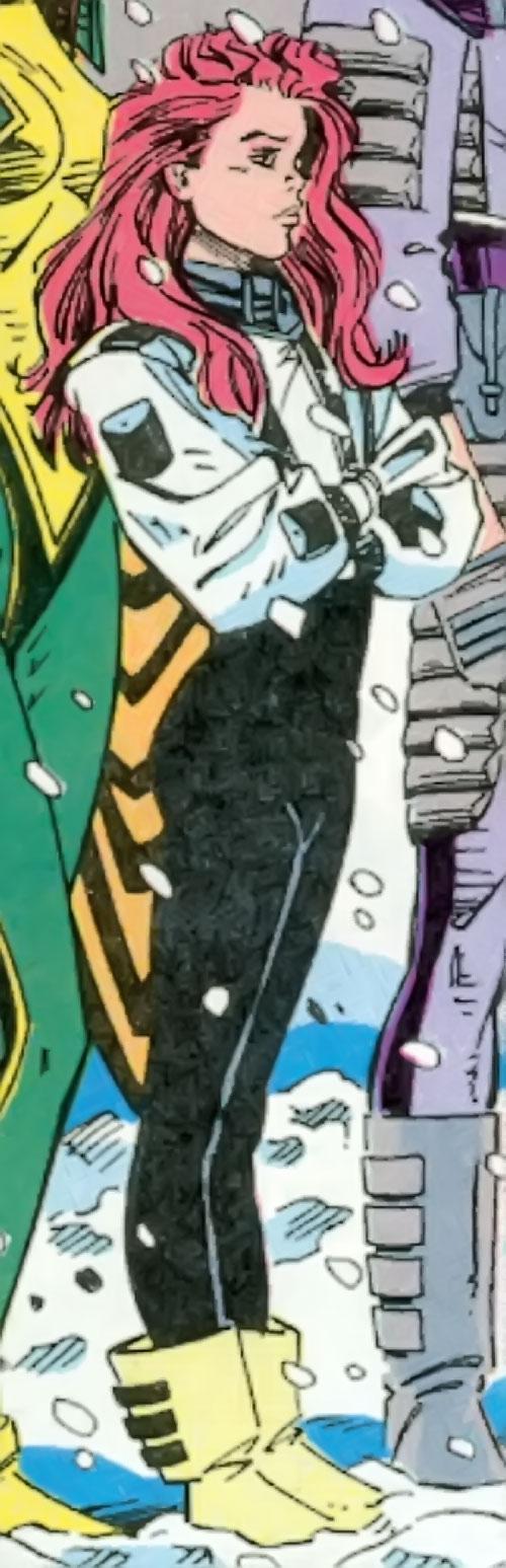 Powerpax (Marvel Comics) standing in the snow