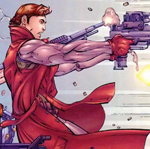 Pretty Boy of the Reavers (X-Men enemy) (Marvel Comics) dual-wielding