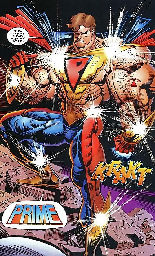 Prime (Ultraverse Malibu Comics) posing and glinting
