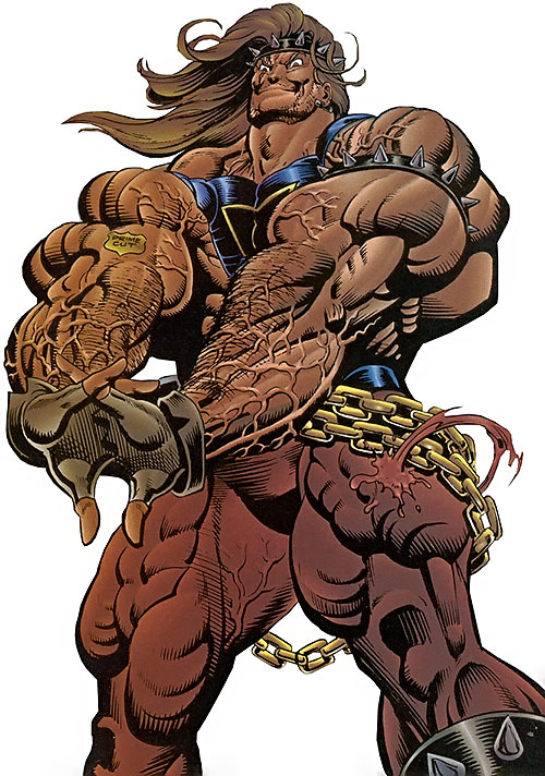 Prime (Ultraverse Malibu Comics) (bad boy persona) cracking his fingers