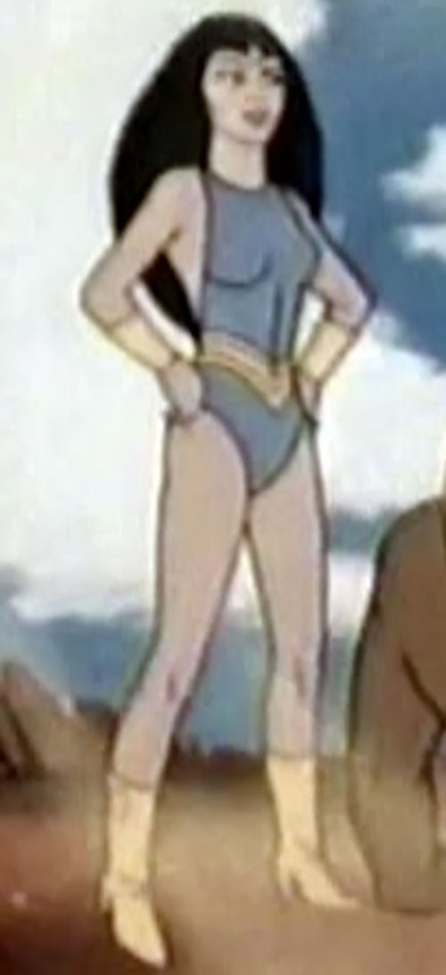 Princess Ariel (Thundarr the Barbarian) standing with fists on her hips
