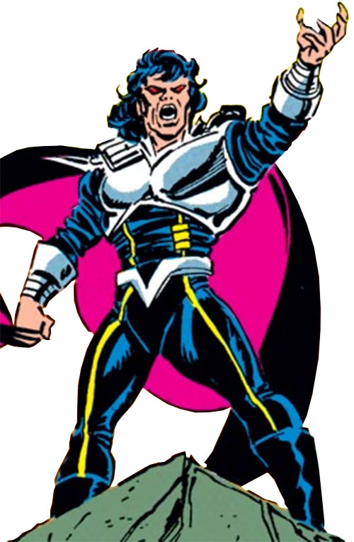 Proctor of the Gatherers (Avengers enemy) (Marvel Comics) giving a speech