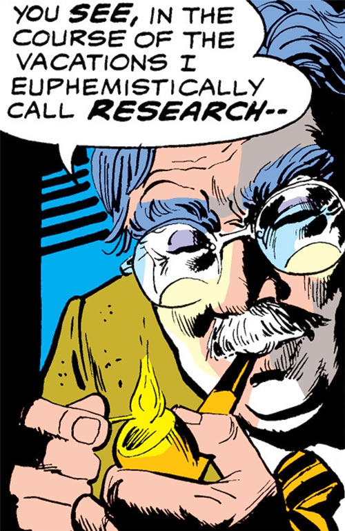 Professor Lee Wing (Iron Fist character) (Marvel Comics) lighting his pipe