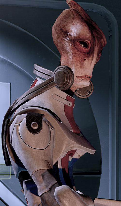 Professor Mordin Solus (Mass Effect) high resolution side view