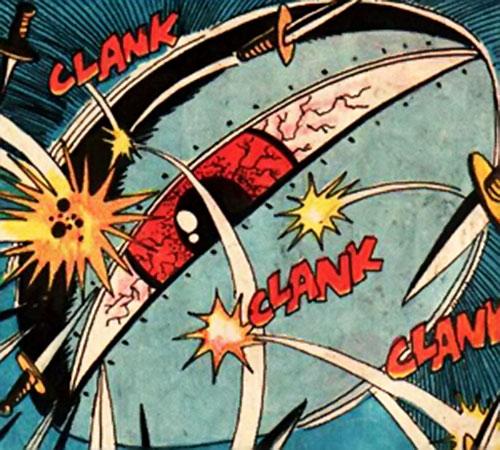 Professor Ojo (Richard Dragon enemy) (DC Comics)'s floating eye under fire
