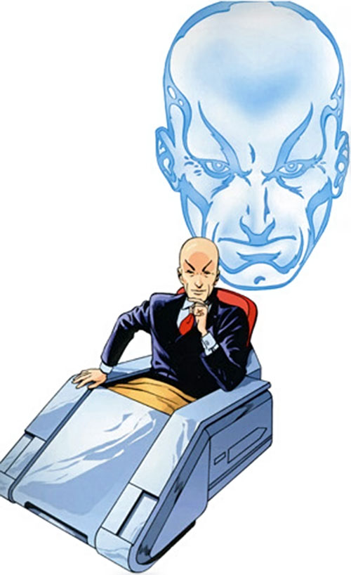 Professor X of the X-Men (Marvel Comics) in his hover chair