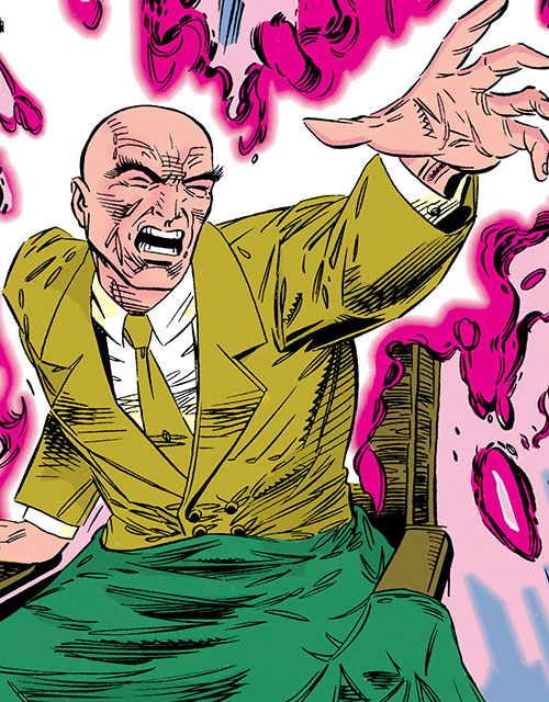 Professor X of the X-Men (Marvel Comics) during the 1990s, using his power