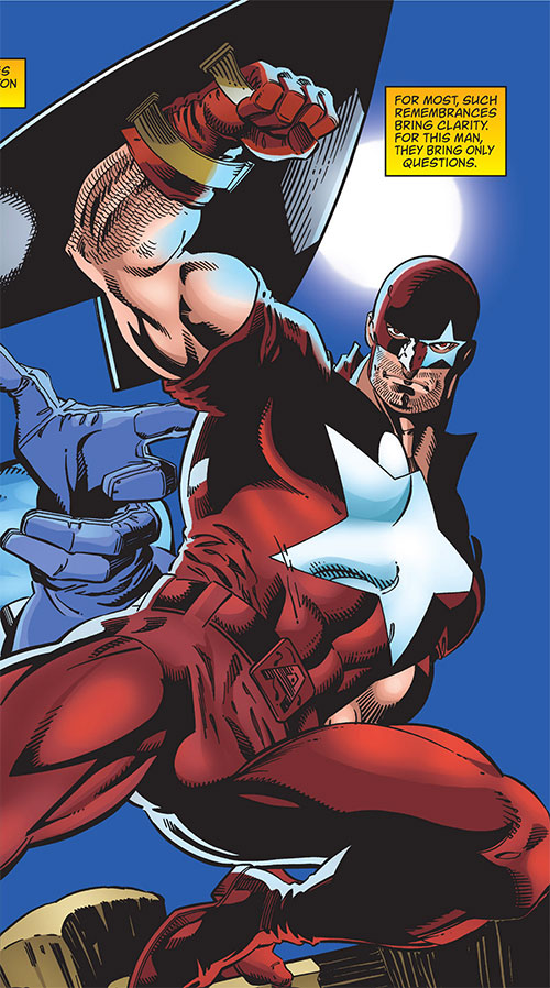 Protocide (Captain America enemy) (Marvel Comics) leaping